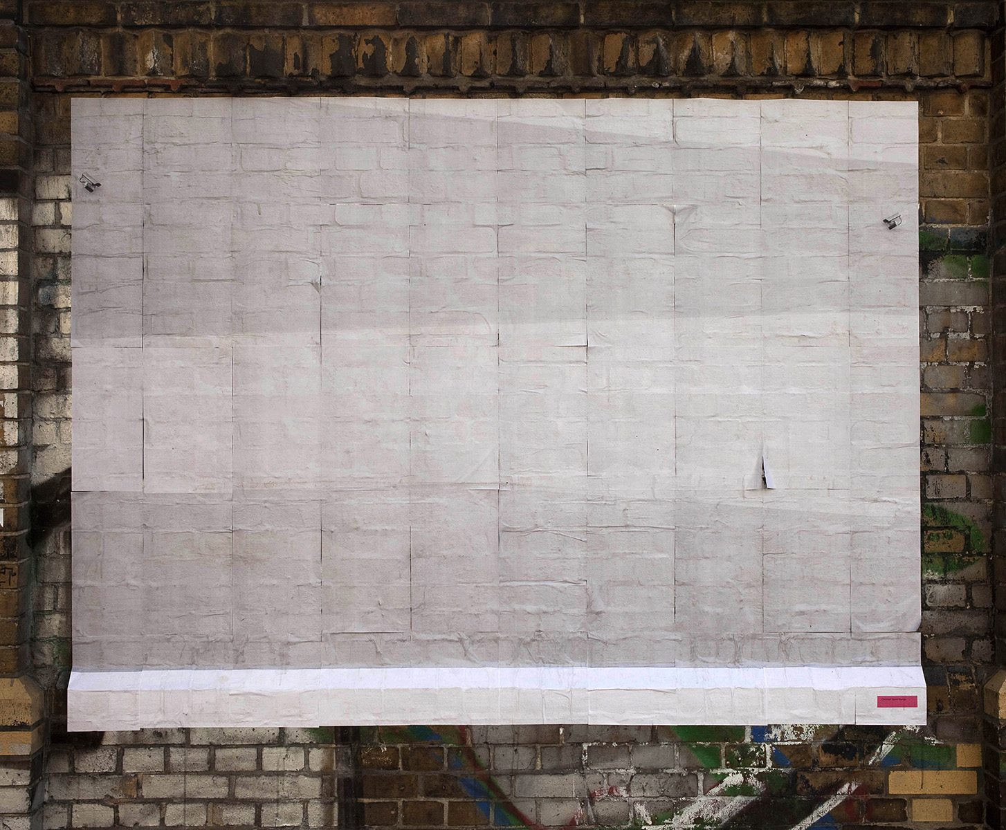 Chris Drange, Christoph David Drange, Wall #1, Kleister, Installation view, exhibition