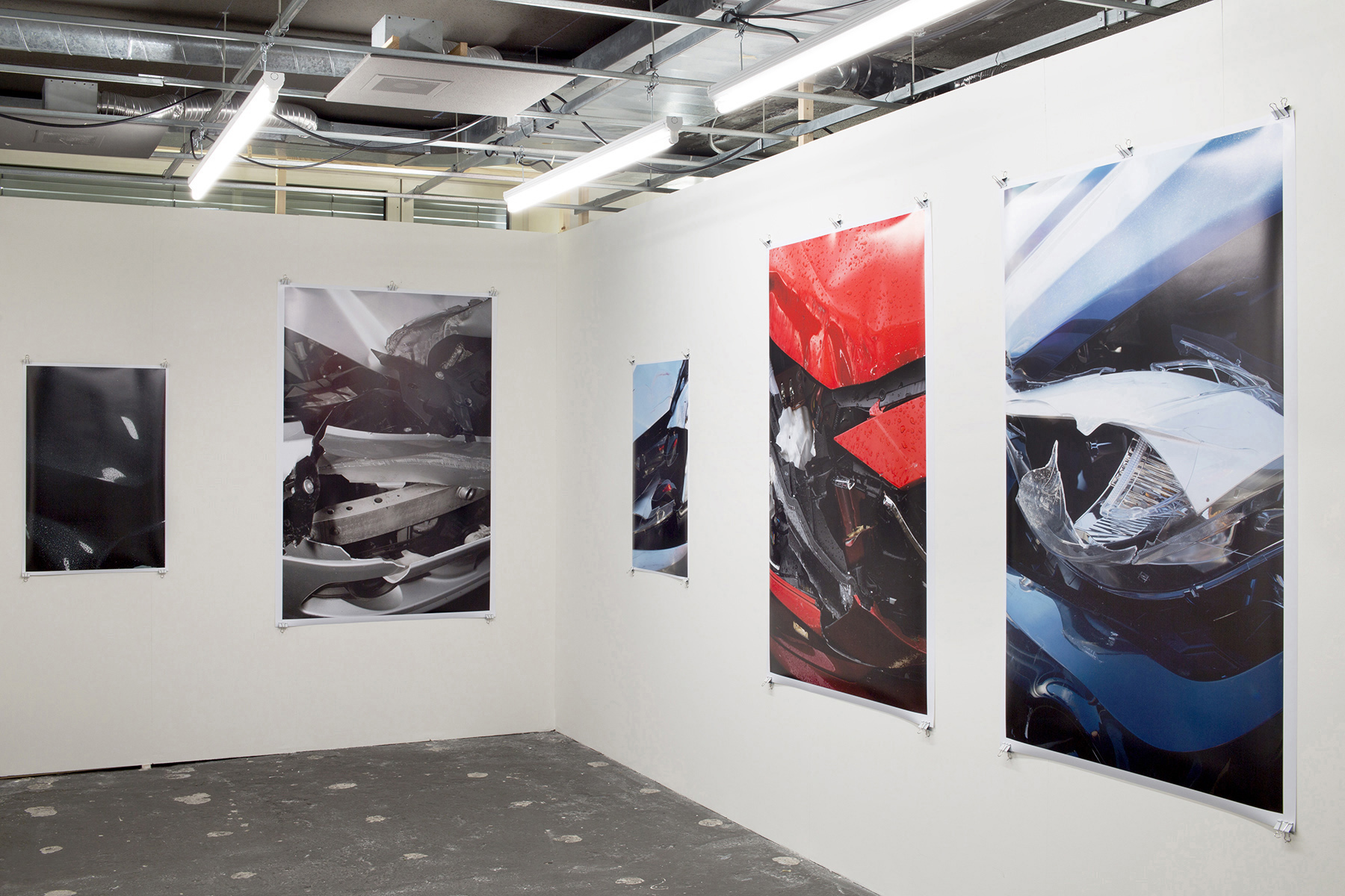 Chris Drange, Christoph David Drange, Shape Shifter, PHANTOM, PALLADIUM, SLATE II, MISANO,  KOBALT, Crash Installation view, Photo Bastei, exhibition